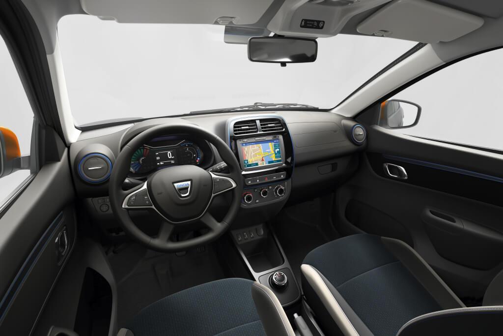 Dacia Spring: interior.