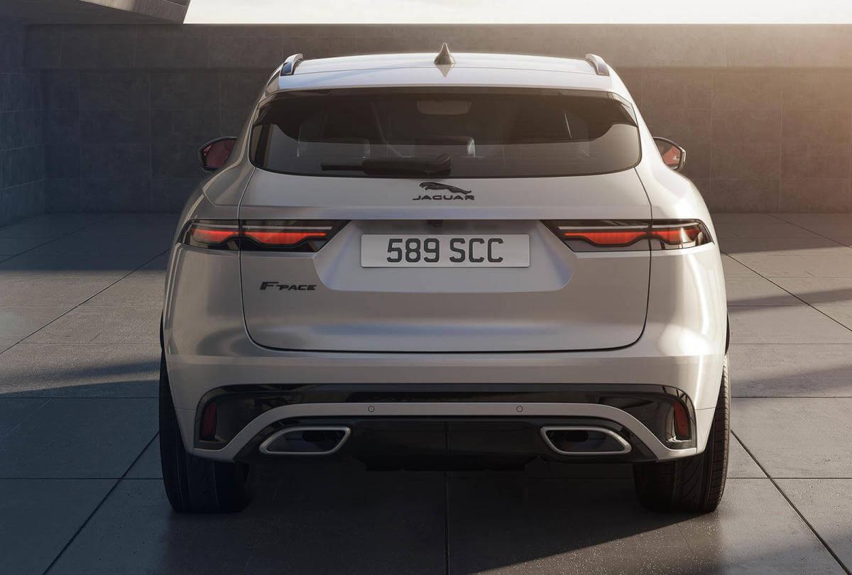 Jaguar F-Pace 2021, parte trasera.