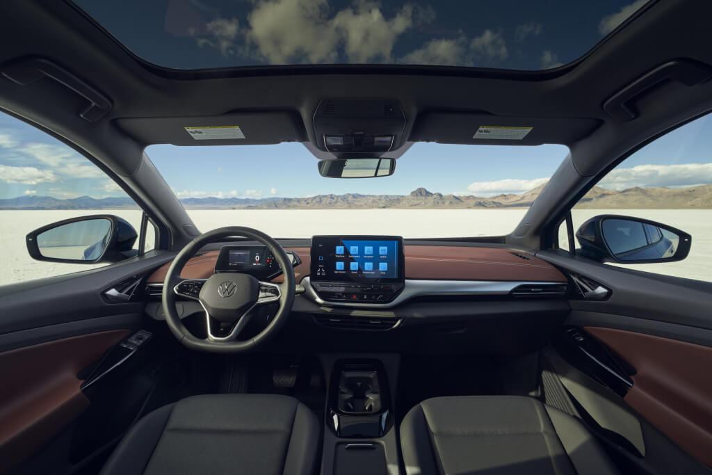 El interior del coche.