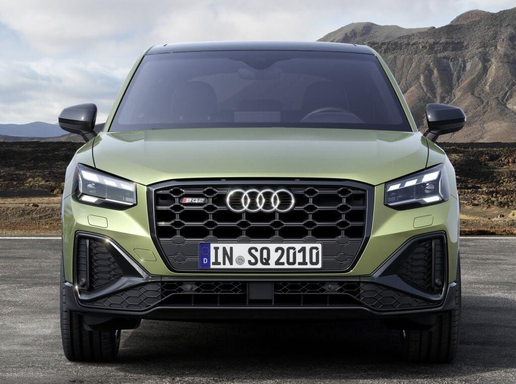 Audi SQ2 2021, parrilla rediseñada.