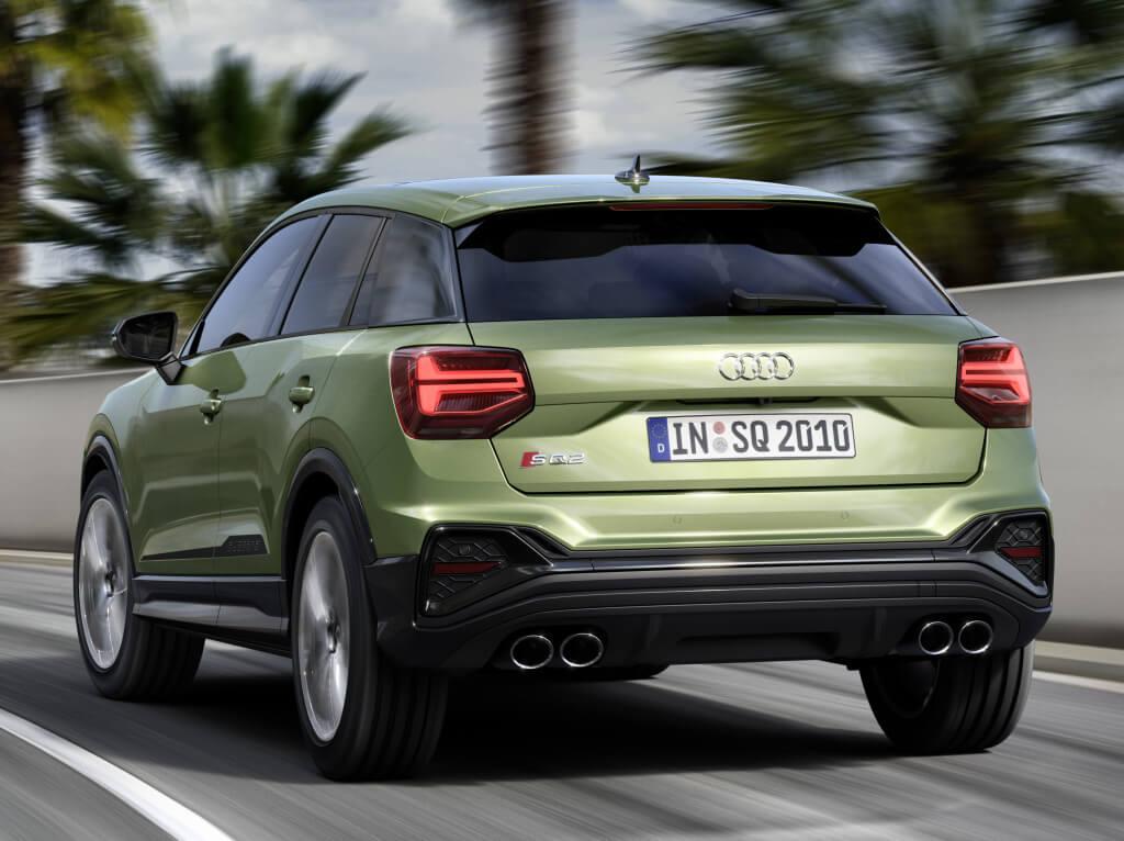 Audi SQ2 2021, parte trasera.