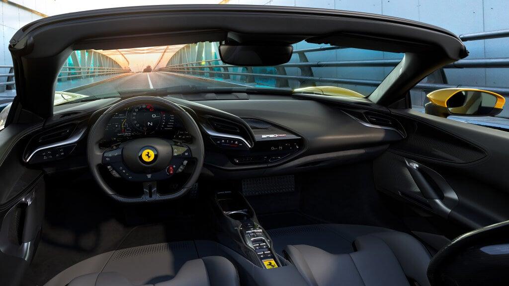 Ferrari SF90 Spider, diseño interior.