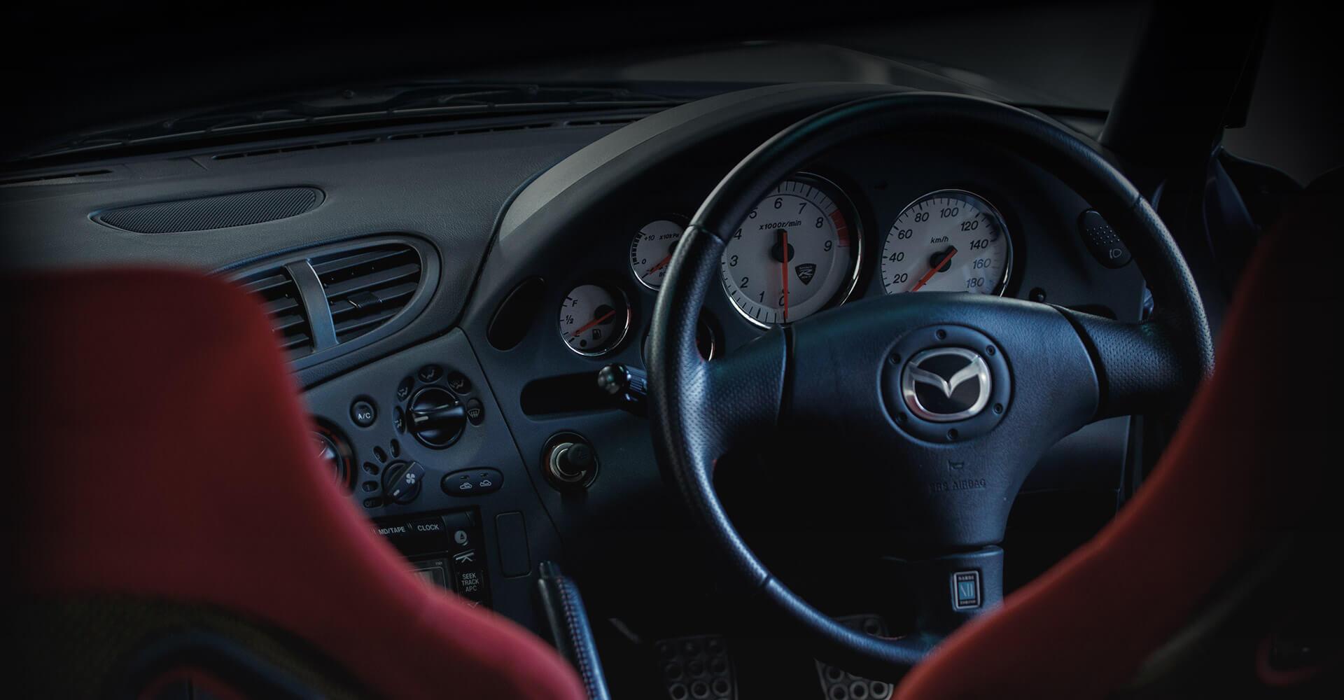 Mazda RX7 FD: interior.