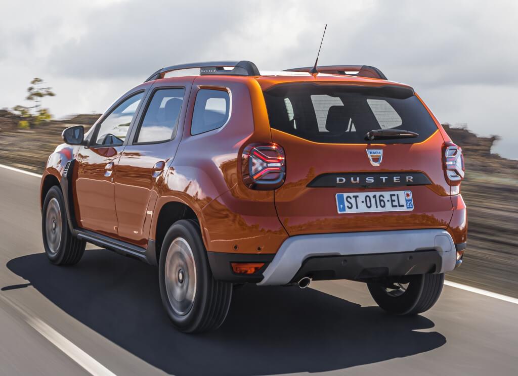 Dacia Duster 2021: trasera.