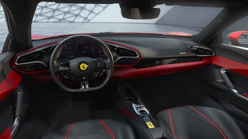 Ferrari 296 GTB: interior.