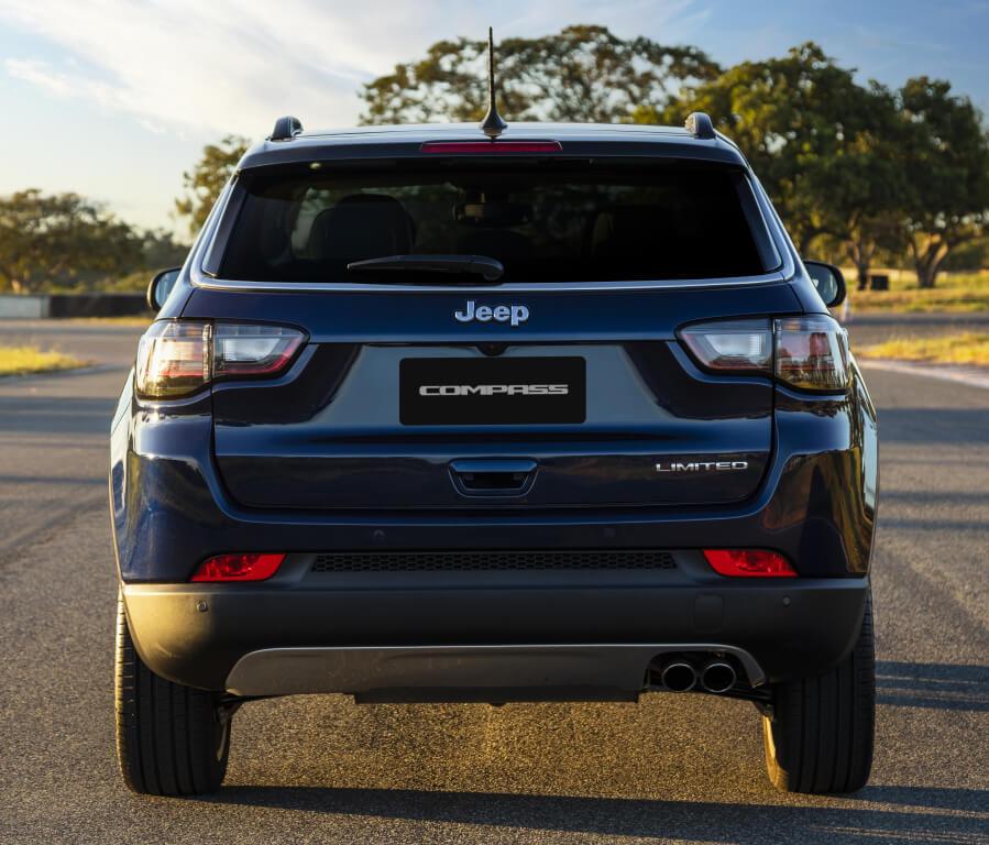 Jeep Compass 2021, parte trasera.
